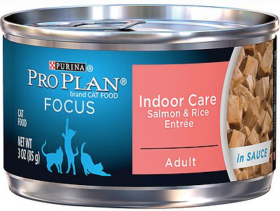Purina Pro Plan Focus Adult Indoor Care Salmon & Rice Entree in Sauce Canned Cat Food