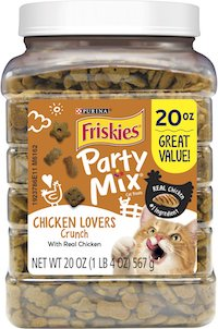 Friskies Party Mix Crunch Chicken Lovers Cat Treats